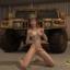 Redhead futanari army officer presents her biggest gun!