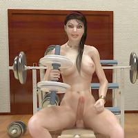 Sexy futanari muscle girls with rock hard bodies, big muscles and gargantuan erections!