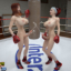 Two sexy MMA futa girls fight in the ring with their big dicks!