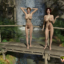 Two naughty futa dick girls play and fuck in the jungle!