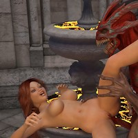 Redhead maiden getting sodomized by an ancient demon fiend. Part II.