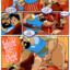 Jasmine runs away from the evil Jaffar
