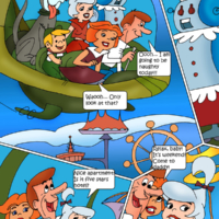 Incredible Jetsons family orgy with dog and all!