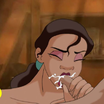 Tiana sucking cock in hot flash animation!