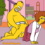 The Flanders discover hardcore sex with Homer