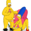 Marge and Homer have sex with donuts and beer