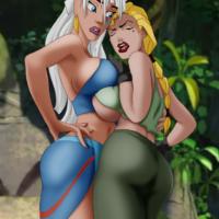 Kida and Helga have hot lesbian sex!