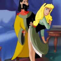 King Stefan fucks Aurora with his royal cock!