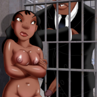 Nani sucks Agent Cobra's big dick behind bars!