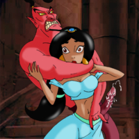 Jasmine gets raped by the evil Genie