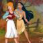 Pocahontas and Cinderella have kinky lesbian sex together!