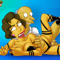 Mr. Burns getting hardcore action with hot babe!