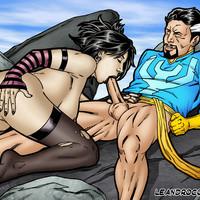 Nico Minoru fucked hard by Dr. Strange